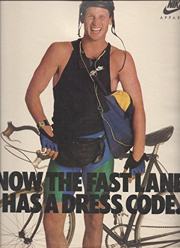 --Print Ad-- For 1986 Nike Bicycle Apparel Products --PRINT AD--