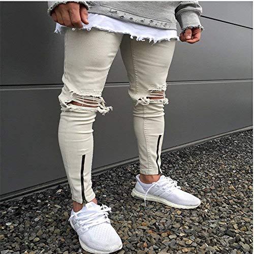 Los Pantalones Cómodos Elásticos Jeans Alta Hombres Algodón Pantalones Azul Suave De H Elástico Ropa Fit Tamaños Cómodo Slim Vaqueros Ssig Moda De gq8xZ