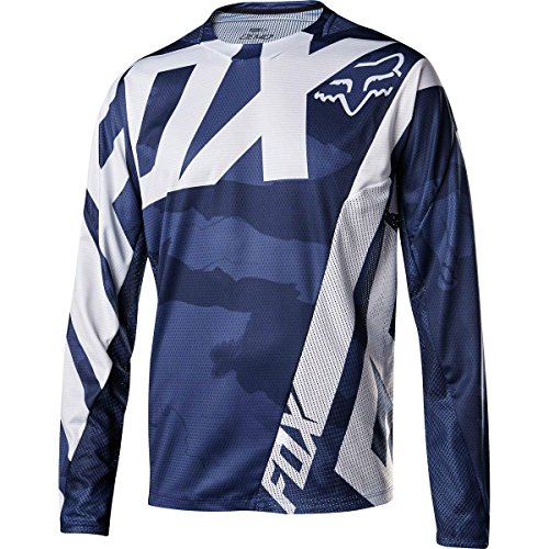 Fox Racing Demo Long-Sleeve Bike Jersey - Men's Blue Camo, L by Fox Racing