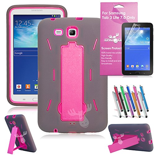 EpicGadget I Stand Heavy Duty Rugged Hybrid Build in Kickstand Protective Case for Samsung Tablet Galaxy Tab 3