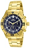 Invicta Men's 12844 Specialty Chronograph 18k Gold Ion-Plated Stainless Steel and Blue Dial Watch