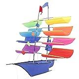 Heaven Tvcz 3D Huge Rainbow Sailboat Flying Kite Kids Children Sports Park Beach Fun Toys Game Activity Outdoor