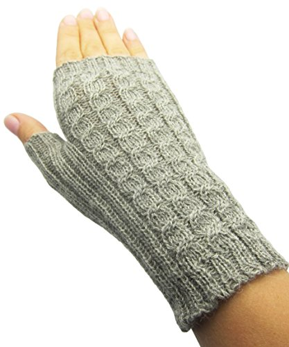 ハンドメイドシンPureアルパカ指なし手袋 – ソフトグレー( Made to Order )