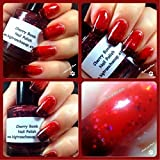 Color Changing Nail Polish - Mood Nail Polish - Gift for Teens, Women - Glitter Nail Lacquer - Cherry Bomb - 0.5 oz Full Sized Bottle - FREE SHIPPING