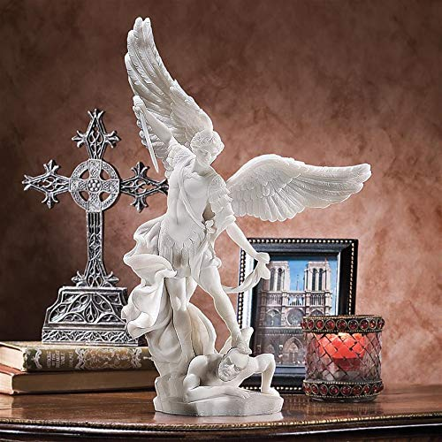 - Design Toscano Bonded Marble St. Michael the Archangel Angel Statue (WU71543)