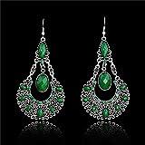YorYing Fashion Women's Gemstone Ear Stud Dangle Earrings Charming Jewelry New