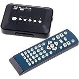 Androset 1080P-TVBOX 1080p HD USB HDMI SD/MMC Multi TV Media Player RMVB MKV 50 (Black 1080p tv box)