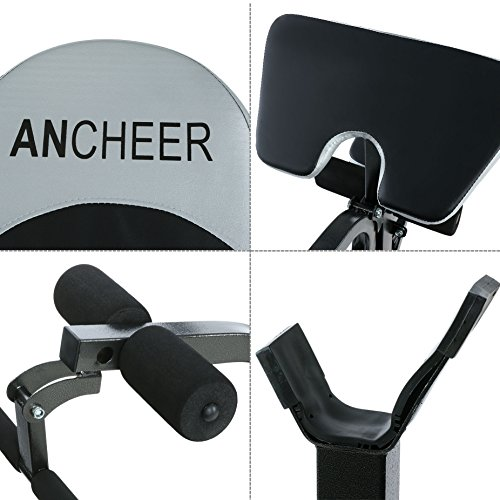 ANCHEER Adjustable Olympic Weight Bench with Preacher Curl/ Leg Developer, US Stock
