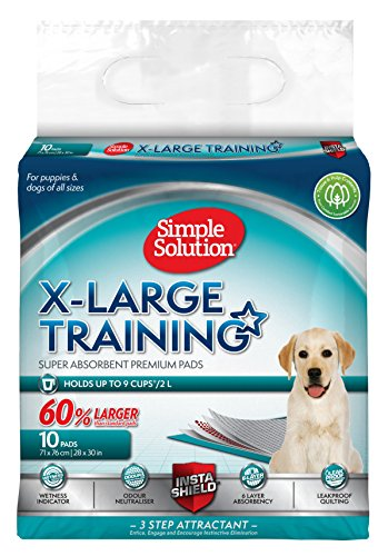 Simple Solution Extra Large Dog Training Pads, 28x30, 10 ct