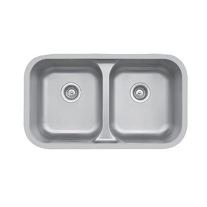 Edge E-350 Undermount Double Bowl Sink - - Amazon.com