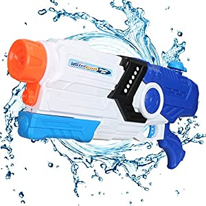 Fantastic Zone 2000ml Water Gun Super Water Blaster Moisture Capacity Party Outdoor Activity, 34ft Effective Distance Squirt Gun Soaker for Kids & Adults