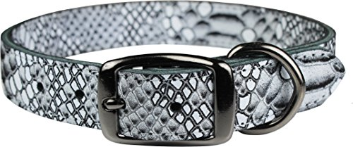 cb8baef6f7f OmniPet Native Leather Python Print Pet Collar
