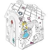 Casa de juegos de Cartulina Princesa Pappspielhaus para Pintar Página de inicio Juguete Caja cartón