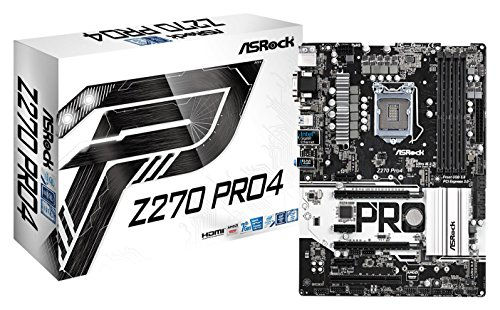 ASRock Z270 PRO4 LGA1151/ Intel Z270/ DDR4/ Quad CrossFireX/ SATA3&USB3.0/ M.2/ A&GbE/ ATX Motherboard (Pcie Pentium Motherboard)