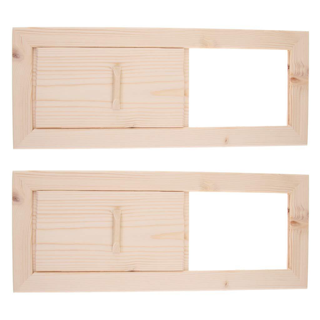 Accessoires De Sauna LOVIVER Grille Da/ération En C/èdre Pour Sauna Paquet De 2