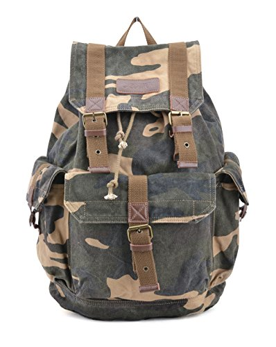- Gootium 21101CAM Specially High Density Thick Canvas Backpack Rucksack (camouflage)