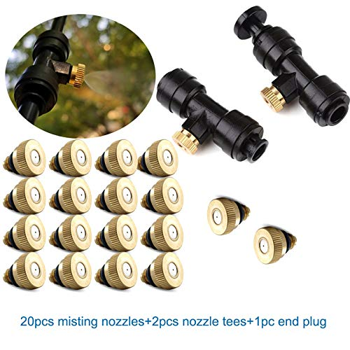 10x Slip-Lok-Vernebelungsd/üse koiry Messing-Vernebelungsd/üsensatz 10x 0,3 mm 10//24 UNC 1x Steckersatz