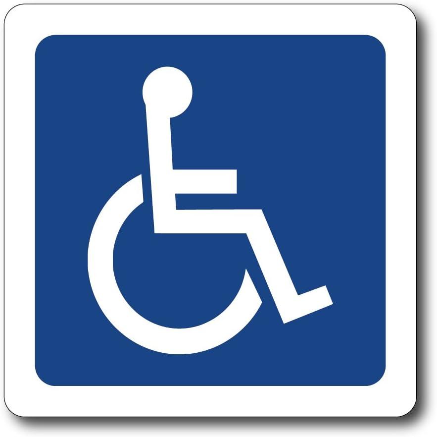 Reflective Symbol Handicap Coolhubcaps Magnet