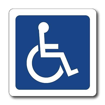 Amazon Reflective Handicap Symbol Magnet Automotive
