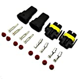 E-TING 2sets H8 H9 H11 880 Wire Connector Plug sockt 2 Pins Waterproof Car Motorcycle
