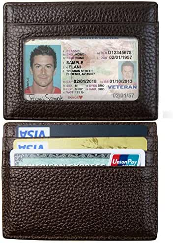 Front Pocket Wallet, Leather Slim Card Holder Wallet with RFID Blocking