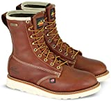 Thorogood 814-4008 Men's American Heritage 8'' Round Toe, MAXWear Wedge Waterproof Non-Safety Toe Boot, Tobacco Oil-Tanned - 8.5 D(M) US
