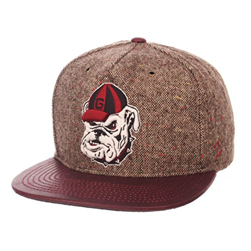 Zephyr NCAA Georgia Bulldogs Adult Men Legend Heritage Collection Hat, Adjustable, Tweed