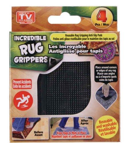 4 pk Reusable Rug Gripping Anti-Slip Pads