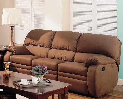 Annette Reclining Sofa In Chocolate Microfiber Basic Info