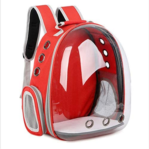 JZCXXJ Pet Dog Cat Astronaut Backpack Space Capsule Breathable Outdoor Carrier Bag 2019 Outing Carrying Bag Pet Transparent Backpack: Amazon.es: Productos para mascotas