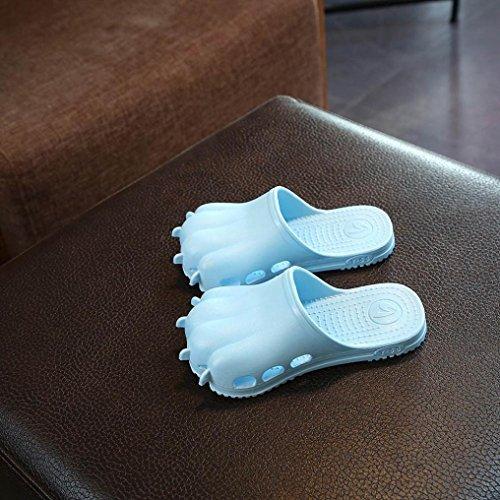 Transer Kinder Slippers, Cartoon Pfote Loch Infant Unisex Mädchen Jungen Flip Flops Hausschuhe Himmelblau