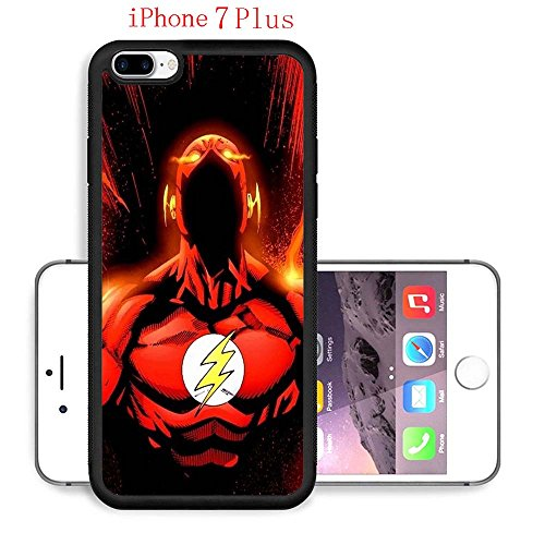 iPhone 7 Plus Case, The TV Series The Flash 65 Drop Protection Never Fade Anti Slip Scratchproof Black Soft Rubber (Female Cartoon Characters Names)