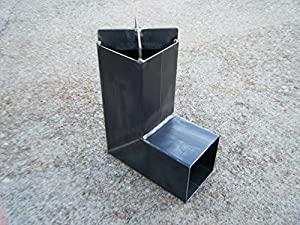 Rocket stove welded steel construction for Heavy duty rocket stove