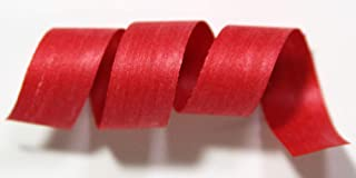 "product image for 100% Biodegradable Natural Ribbon | 33 Solid Colors | Ribbon for Crafts | Cotton Curling Ribbon | Holiday Ribbon | Wrapping Ribbon | Eco-Friendly Ribbon (Red, 3/16"" x 500 Yards)"