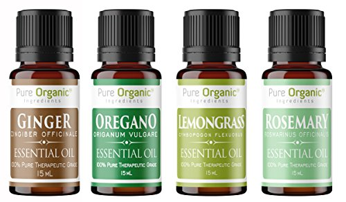 Cooking Essential Oil 4 Piece Gift Set by Pure Organic Ingredients,...