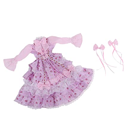 fd58a2d4e28c Amazon.com  Fityle Pink Ball Gown Dress with Hair Clip for 1 3 BJD ...
