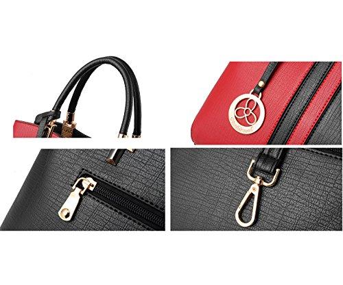 Colorblock Borsa Grigio Bag A Tracolla Ruiren Messenger Moda Tre qUxUwSa