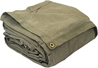 product image for Eagle Industries CAN-FR-2020-20' x 20' General Purpose Industrial Grade Heavy Duty Flame Retardant Canvas Tarp - Olive Drab Green