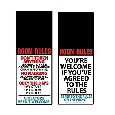 Room Rules Do Not Touch Anything Funny Door Knob Hanger Prank Gag: Everything Else