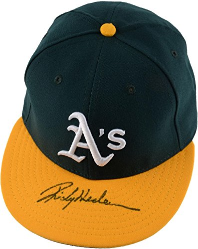Rickey Henderson Oakland Athletics Autographed New Era Cap - Fanatics Authentic Certified - Autographed Hats
