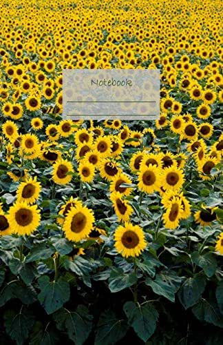 """Notebook: Dotted grid Journal. Bullet Diary. Ideal for Notes, Memories, Journaling, Creative planning and Calligraphy practice. 120 Pages. Soft matte ... x 8.5"""". Great gift idea. (Sunflowers cover)."""
