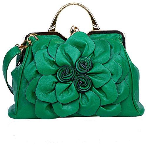 Casual Shoulder Bag Korean Fashion Lady Pu Flower Handbag A12