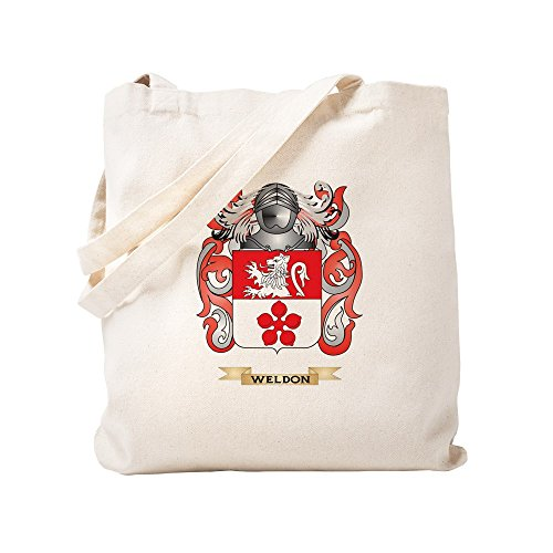 CafePress - Weldon Family Crest (Coat Of Arms) - Natural Canvas Tote Bag, Cloth Shopping Bag by CafePress (Image #2)