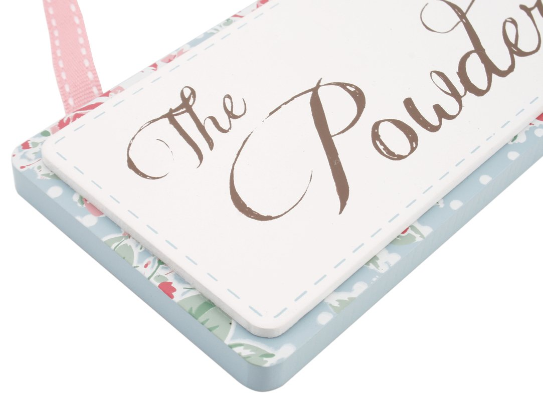 'The Powder Room' Posies Hanging Sign Carousel Home