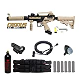 MAddog Tippmann Cronus Tactical Red Dot Paintball Gun Package – Black/Tan For Sale