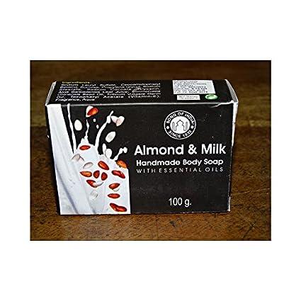 int. dailleurs - Jabón de leche de almendras hecha a mano (100