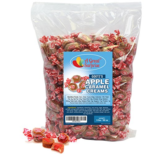 Goetze's Caramel Creams, Apple, 5 LB Bulk Candy (Downtown La Halloween Events)