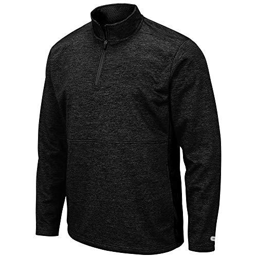 Colosseum Mens ¼ Zip Fleece Sweatshirt Black Black - XL from Colosseum
