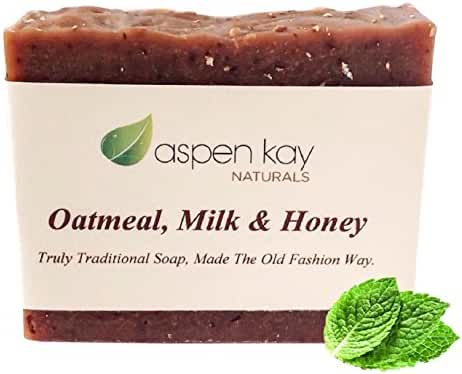 Oatmeal Soap Bar. With Organic Honey, Goats Milk, & Organic Shea Butter, Can Be Used as a Face Soap or All Over Body Soap. For Men, Women & Teens. Gentle Exfoliating Soap, For All Skin Types. GMO Free, Preservative Free. Each Bar Is Handmade By Our Artisan Soap Maker. 4oz Bar. No Animal Testing - Cruelty Free. Natural & Organic Soap. Satisfaction Guaranteed.