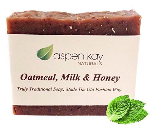 Oatmeal Soap Bar. With Organic Honey, Goats Milk,  Organic Shea Butter, Can Be Used as a Face Soap or All Over Body Soap. For Men, Women  Teens. Gen…